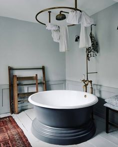 Beautiful Round Bath | House & Gardens | Bathroom Inspiration