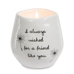 Pavilion Gift Company 77114 Plain Dandelion Wishes - I Always Wished for A Friend Like You White Ceramic Soy Serenity Scented Candle, Friend Crafts, Diy Gifts For Friends, Christmas Gifts For Friends, Friend Birthday Gifts, Best Friend Gifts, Christmas Parties, Sister Gifts, Christmas Ideas, Happy Birthday