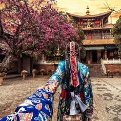 #followmeto Yunnan province in China with @natalyosmann. On this photo we are at the Tibetan monastery, wearing a traditional Tibetan costume.  We were excited to visit China earlier this month. By the way you can find us under MuradOsmann on Weibo!  Also we are coming back to Taiwan next week! Stay tuned - soon we will share images from there.