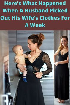 Ladies, have you ever let your husband pick out your clothes? How did they go for you? Guys, how about you? Have you ever wanted to pick out your partner's clothes? Husband, Let It Be, Shit Happens, Lifestyle, Clothes, Outfits, Clothing, Clothing Apparel, Cloths