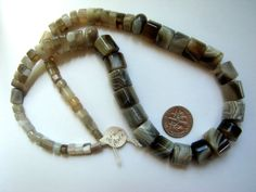 Unique Botswana Agate Graduated Beads unusual by NancyLynnDesigns