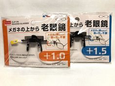 DAISO JAPAN Clip on Flip up Magnifying Reading Eye Glasses japanese +1.0/+1.5  #DaisoJapan