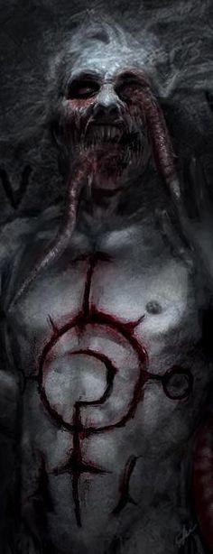 Art of Horror Blood Guts n Gore Arte Horror, Horror Art, 3d Fantasy, Dark Fantasy, Creepy Art, Scary, Vampires, Art Zombie, Arte Obscura