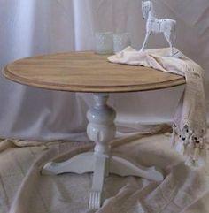 kloostertafel rond 20002 - brocante eettafel met rond blad en, Deco ideeën