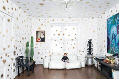 Palm Fronds and Polka Dots: Inside a Fearlessly DIY Crown Heights Home