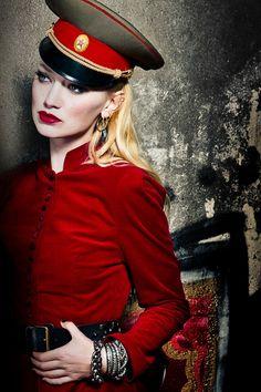 Lena Hoschek RASPUTIN DRESS red velvet