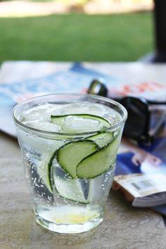 Cucumber and Elderflower Gin Cocktail