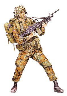 Soldado equipado con ametralladora M249 SAW, 2ª Brig., 7ª División de Infantería, 1989. Panama invasion, pin by Paolo Marzioli