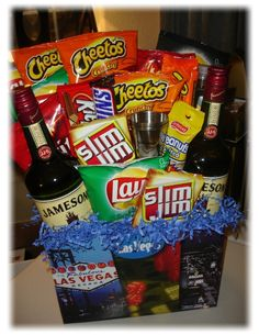 Fun Guys Gift Basket (maybe something like this for the mister for Easter?) @K D Eustaquio McConnell