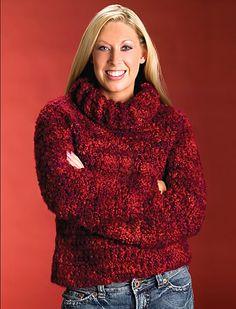 Ravishing Ruby Pullover free crochet pattern