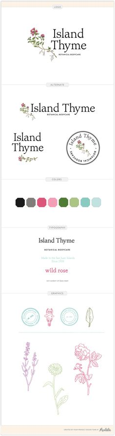 Island Thyme branding guide by Aeolidia