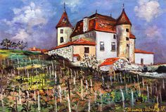Maurice Utrillo Le Château De Pouilly oil painting reproductions for sale Amedeo Modigliani, Urban Painting, Oil Painting On Canvas, Maurice Utrillo, Building Art, Oil Painting Reproductions, France, French Artists, Cool Artwork