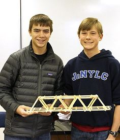 Mr. Waldbaum and Mr. Segesdy's Conceptual Physics classes squared off in a challenge for the ages—just how much weight can a bridge made of Popsicle sticks hold?
