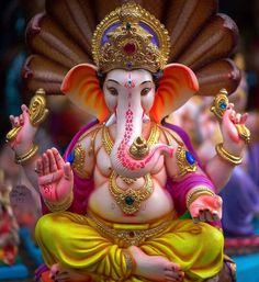 Make this Ganesha Chathurthi 2020 special with rituals and ceremonies. Lord Ganesha is a powerful god that removes Hurdles, grants Wealth, Knowledge & Wisdom. Ganesh Pic, Ganesh Lord, Sri Ganesh, Ganesh Idol, Ganesh Statue, Ganesha Art, Clay Ganesha, Ganesha Drawing, Ganesha Tattoo