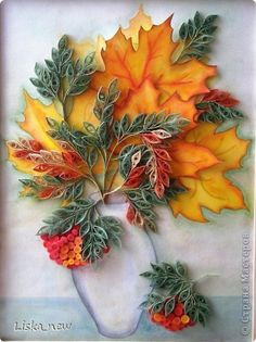 Fall Quilling Arrangement
