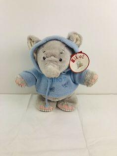 ELLIOT AND BUTTONS 27CM PLUSH TOY SOFT TOY! ELLIOT ELEPHANT BLUE HOODIE TOY! Jellycat, Build A Bear, Blue Hoodie, Plush, Elephant, Teddy Bear, Buttons, Hoodies, Toys