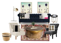 """""""Me"""" by andreadavis2 on Polyvore featuring interior, interiors, interior design, home, home decor, interior decorating, OKA, Global Views, Joybird Furniture and Squarefeathers"""