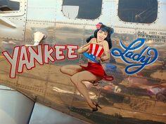 WWII Bomber Nose Art - Yankee Lady: