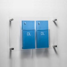DL brochure holders wall mounted
