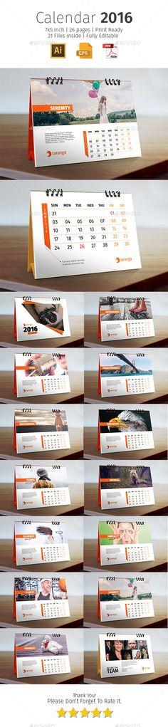 2016 Corporate Desk Calendar Template #design Download: http://graphicriver.net/item/2016-corporate-desk-calendar/12604202?ref=ksioks