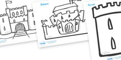 Twinkl Resources >> Castles and Knights Colouring Sheets  >> Thousands of printable primary teaching resources for EYFS, KS1, KS2 and beyond! knights, castles, colouring, fine motor skills, poster, worksheet, castles and knights, maiden, castle, maiden, castle, tower, dragon, sword, horse, flag, shield, dungeon,