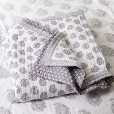 Ava Block Print Quilt - Lavender | Ballard Designs