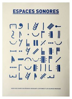 index des signes graphiques du solfége Type Design, Sign Design, Graphic Design Art, Web Design, Graphic Score, Les Accents, Science Festival, Space Music, Jazz