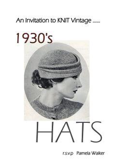 PDF  Vintage Knitting  Hat Patterns 1930's Hats by PamoolahVintage, $12.00