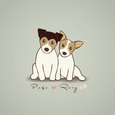 Pogo and Roxy Art Print by Li Kim Goh | Society6