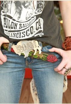 tooled rose belt - texas or junk gypsy