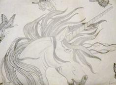 Unicorn drawing by me Unicorn Drawing, Art Portfolio, Unicorns, My Arts, Drawings, Unicorn Painting, A Unicorn, Sketches, Drawing