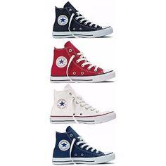 Sneakers Feminino Cano Alto Look Trendy Ideas Outfits With Converse, Converse Sneakers, Converse All Star, High Top Sneakers, Converse Chuck, Estilo Converse, Pullover Shirt, Vetement Fashion, Star Shoes