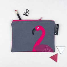 Pink Flamingo Purse Or Pencil Case