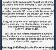 1d3d fangirl code outfit. Girlsssss spread the word!!