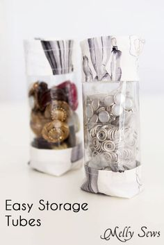 Sew Storage Tubes - Easy Organization Project - Melly Sews