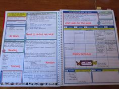 Where do people get these really awesome planners with super intricate and specific sections? I love planning everything out perfectly and detailed. Planner Pages, Life Planner, Weekly Planner, Happy Planner, Printable Planner, Arc Planner, 2015 Planner, School Planner, Planner Tips