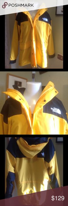 1 DAY SALE 🇺🇸 North Face snow parka men's XL North Face Gore_Tex snow parka, yellow & black. Has a black thick soft & warm interior/ removable jacket., outer shell is water proof. No tears no stains in incredible condition. Men's XL North Face Jackets & Coats Ski & Snowboard