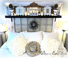 DIY:: Romantic, Recycled Bedroom on a Budget.....Lovely!