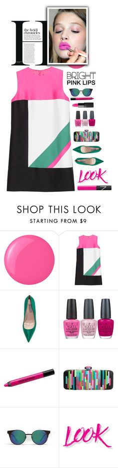 """Bright Pink Lipstick"" by meyli-meyli ❤ liked on Polyvore featuring beauty, Essie, Dsquared2, SJP, OPI, Urban Decay, Quay, NYX, NARS Cosmetics and pinklips"