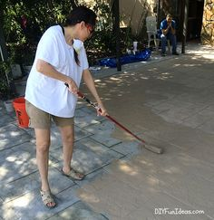 DIY STAMPED CONCRETE TILE TUTORIAL