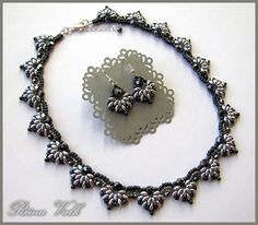 Twin Spades Necklace designed by Smadar`s Treasure and made by Riinu Valk