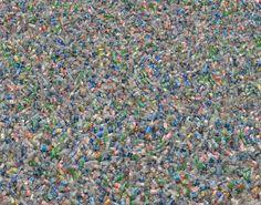 Chris Jordan, Plastic Bottles, Partial Zoom.