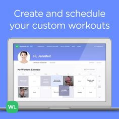 Create and schedule custom illustrated workouts in your online interactive calendar with Workout PRO by WorkoutLabs