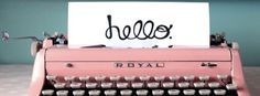 Vintage royal typewriter ~ Facebook cover photo