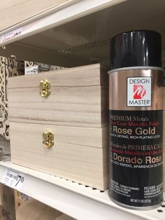 Wooden boxes + Rose Gold = Luxe Craft #spottedatmichaels #makeitwithmichaels #michaelsmakers #craft #diy #paint #rosegold #metallic #creativityfound #makersgonnamake