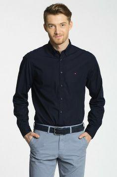 Denim Button Up, Button Up Shirts, Tommy Hilfiger, Poplin, Jdm, Shirt Dress, Classic, Mens Tops, Dresses