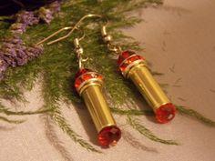 Bullet Earrings Bullet casing cowgirl earrings by AnnieGetUGun