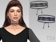 This choker is created by GrafitySims. It's the Lacet Choker. It looks amazing