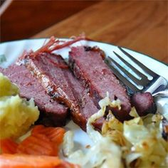 "CORNED BEEF AND CABBAGE! ""You have never had corned beef like this and if you try it, I truly believe you will never go back to the traditionally 'boiled' beef. Recipe by MauiGirl"