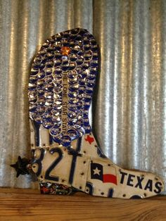 Beer Cap Boot Check us out on Facebook/madcapcreations!